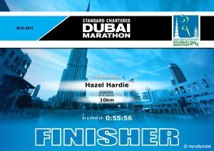 10km Certificate - 2013