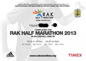 RAK certificate 2013