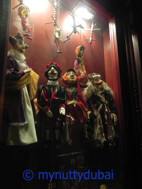 Marionettes in a window display