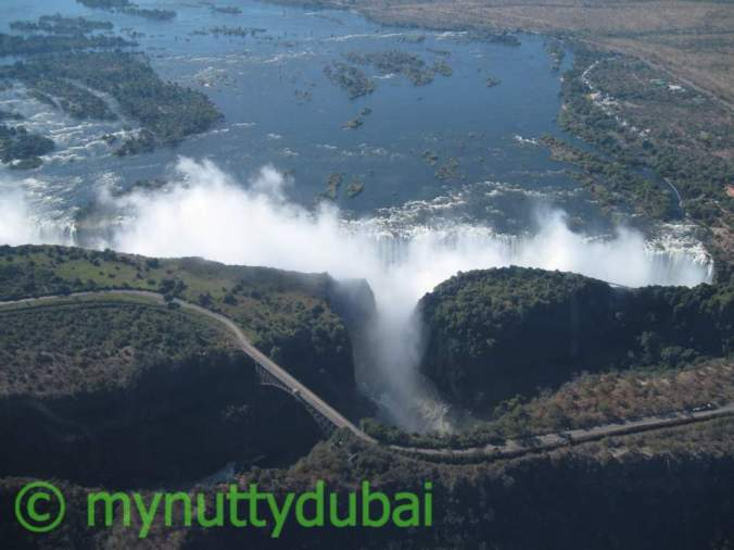 Helicopter ride above Victoria Falls, Zimbabwe, 2010