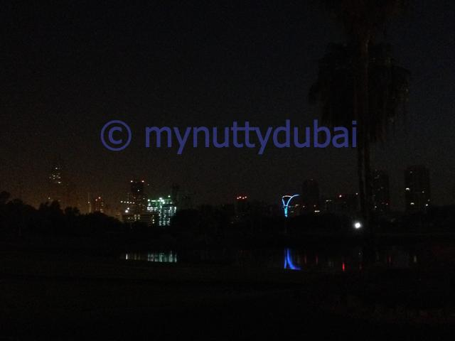 Dubai skyline when I arrived at the race