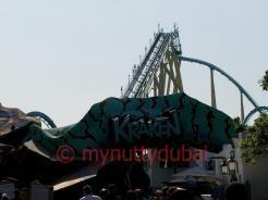 Descending Kraken rollercoaster - Seaworld