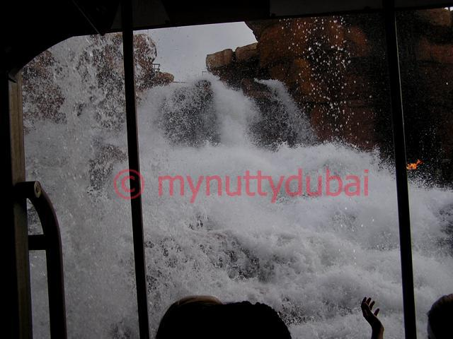 Water descending towards unsuspecting rollercoaster ride victims - Universal Studios