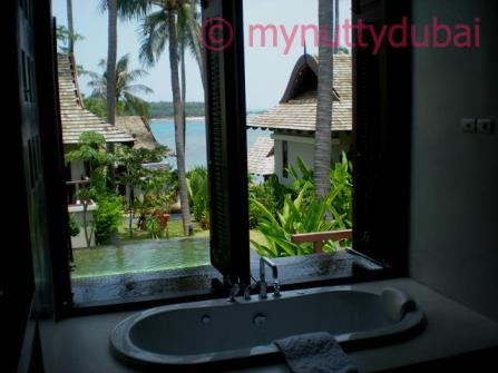 Our suite in Koh Samui - jet bath, and eternity pool :)
