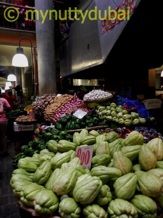 Fresh fruit & vegetables at a market