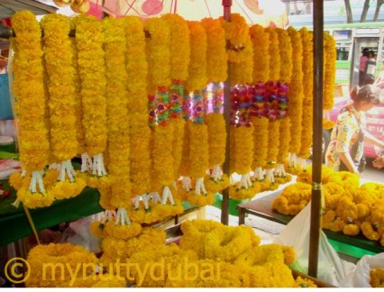 Orange garlands in Thailand - 2009