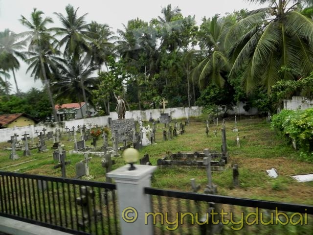 Graveyard in Sri Lanka