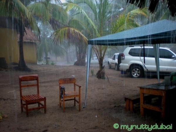 Rain in Mozambique, December 2008