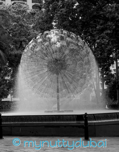 The most obvious - a fountain in Sydney
