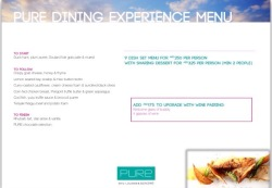 Menu sample