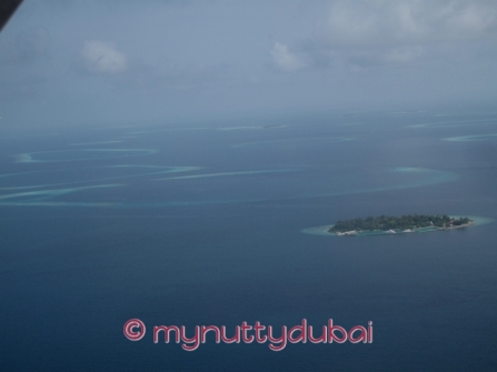 Maldives - seen from the seaplane