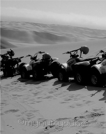 Dune buggying in Namibia