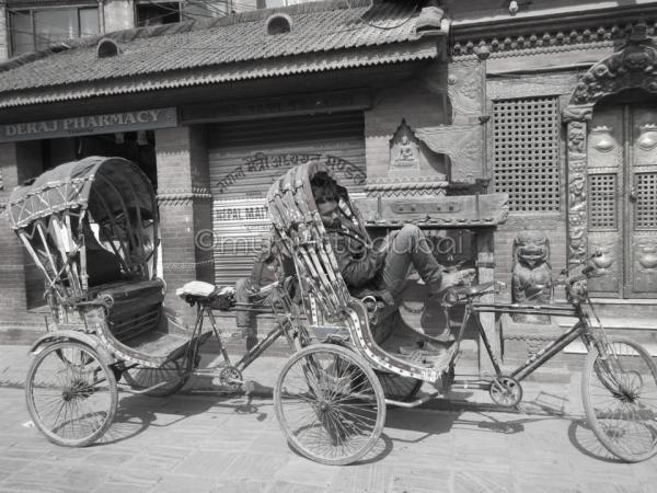 Tuk tuk in Nepal