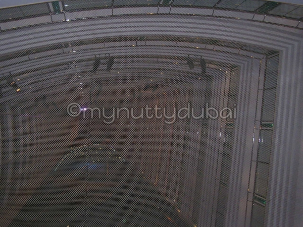 Netting in a lift (elevator) shaft