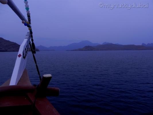Eerie, late afternoon shot, Musandam
