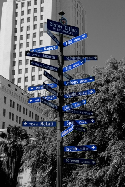 Street sign in Los Angeles