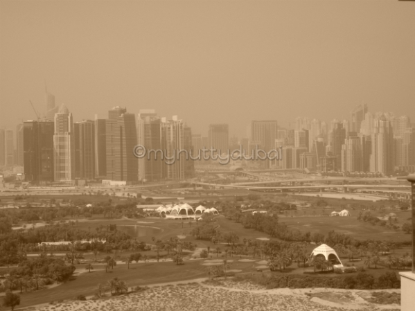 Looking out over Emirates Golf Club