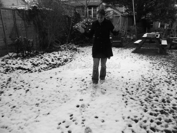 Me playing in snow - something I don't get to do very often!