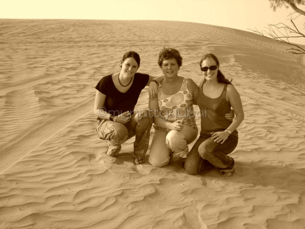 Family spending time with me in the desert :)