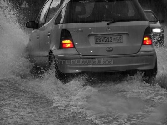Downpour of rain in Johannesburg