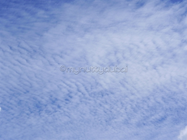 Beautiful blue sky with whispy clouds