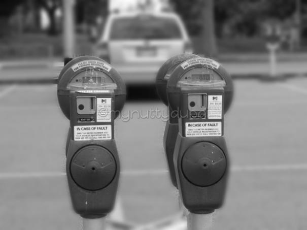 2 parking meters