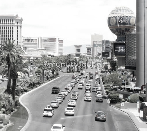 Busy roads of Las Vegas