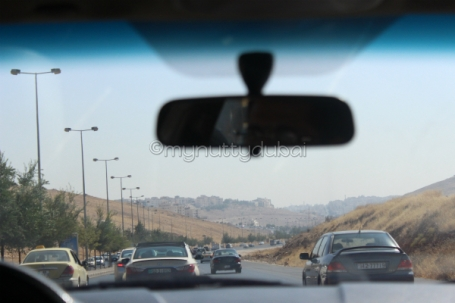 First sights of Jordan in the taxi from the airport