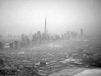 Through an airplane window as I take off from Dubai