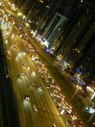 Traffic jam on Sheikh Zayed Road