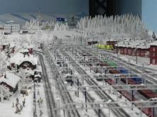 Train station, in winter