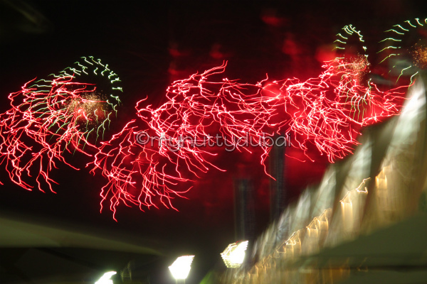 Abstract chaos when trying to photograph fireworks with a very unsteady hand :)