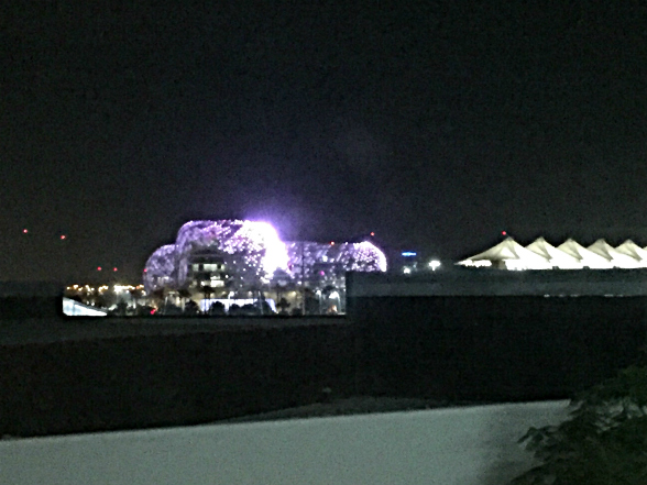The view from my room - onto Yas Viceroy Hotel