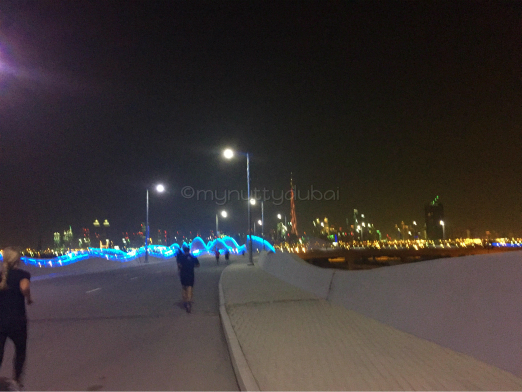 Running across the bridge - very blurry as taken while actually running ;)