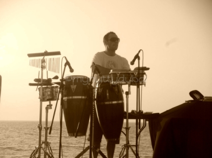 Music on the beach, Dubai
