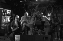 Friends and I on stage in bars, Thailand