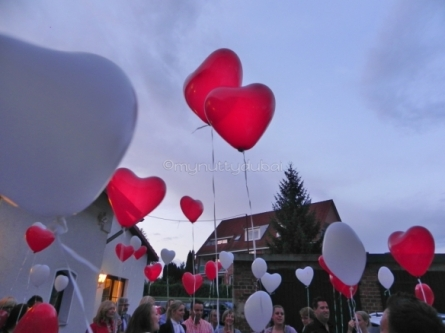 Heart-shaped balloons