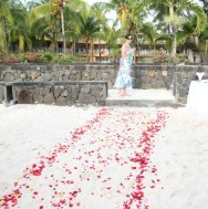 Why have a red carpet when you can have rose petals?!