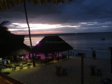 Sunset at the hotel
