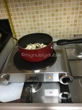 Frying mushrooms...