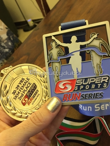 My two medals - one x finisher medal; one x second place medal :)