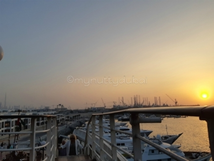 Dubai sunsets from the QE2