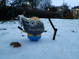 Dave getting out and about in the snow